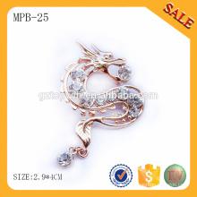 MPB25 Badge en métal à fermeture directe avec fermeture à papillon par Guangzhou