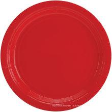 Weeding Party Pack Pratos de Jantar de Papel Multicolor Vermelho / Azul Placas de Cor