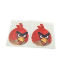 Custom sheet multicolor 3d puff flock heat transfer printing sticker logo for clothing