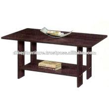 Mesa de centro de madera con estante