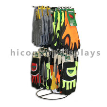 Customized Commercial Counter Top Rotating Metal Wire Collapsiable Sport Gloves Display Rack