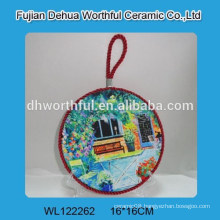 Wholesale ceramic pot holders with lifting rope