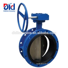 V Ball Fully Lugged Norri 100mm Cast Iron Epdm Seat Flanged Butterfly Valve Actuator Gear Box
