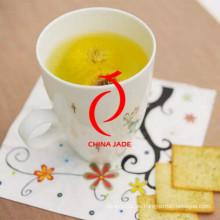 Diseño moderno Pintado a mano de alta calidad de la taza personalizada y platillo Plantador de cerámica en venta caliente
