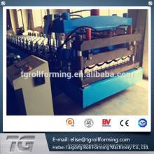 Meilleur matériau Acier et Aluminium 750 Glace Toiture Machine à former des rouleaux de tuiles avec nouvelle technologie