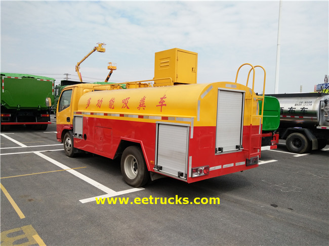 4X2 5000L Sewage Suction Tanker Trucks