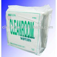 Usine Fournisseur Multi-usages Non-pelucheux Lingettes WIP-10041D-LE 100% polyester essuie-glace de salle blanche avec de bonne qualité