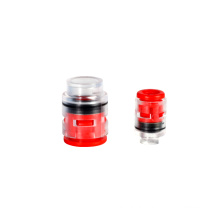 Transparent plastic easy observe pipe plug connector multi size seal micro-duct fitting