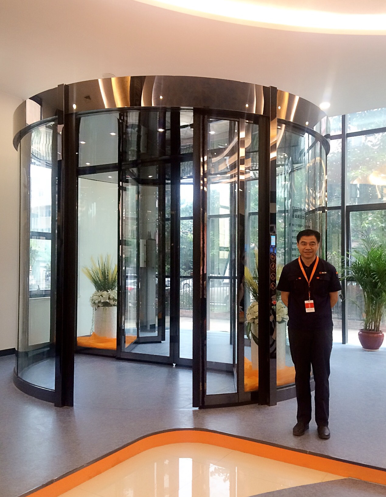 Ningbo GDoor Automatic Revolving Doors with Two Wings