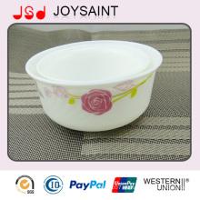 Venta caliente nuevo diseño pintado a mano Costom Cristalería Vajilla Cristalería Footed Bowl