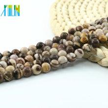 L-0145 AAA Grade Australian Zebra Jasper Rounds Mixed Color Brown Beads Natural Matte Gemstone Beads