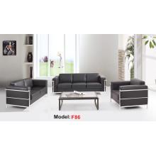 Moden Mueble de recepción de oficina de cuero Sofá comercial seccional (F86-3)