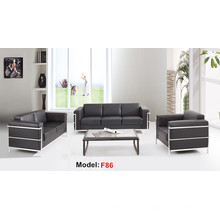 Moden Leather Office Reception Furniture Sofá comercial seccional (F86-3)