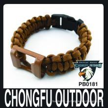 Chongfu al aire libre abridor de botellas paracord pulsera