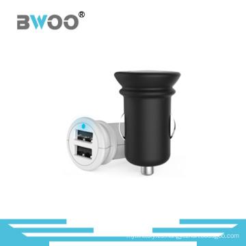 Bwoo nueva llegada al por mayor 2 cargador de coche USB para teléfono