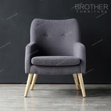 Tissu américain simple salon moderne salon unique chaise d'accent