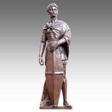 Figura grande Estatua San Jorge Decoración Bronce Escultura Tpls-024