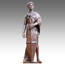 Large Figure Statue Saint George Decoration Bronze Sculpture Tpls-024