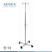 Soporte ajustable del poste del metal de la infusión IV del acero inoxidable AG-SS009A