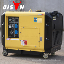 BISON CHINA OHV Manual Diesel Electric 6500 5kw Hand Crank Generator