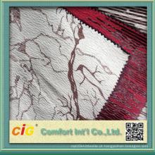 Novo design em relevo tecido de camurça