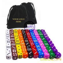 100pcs Assorted Colored 16MM Dice Set