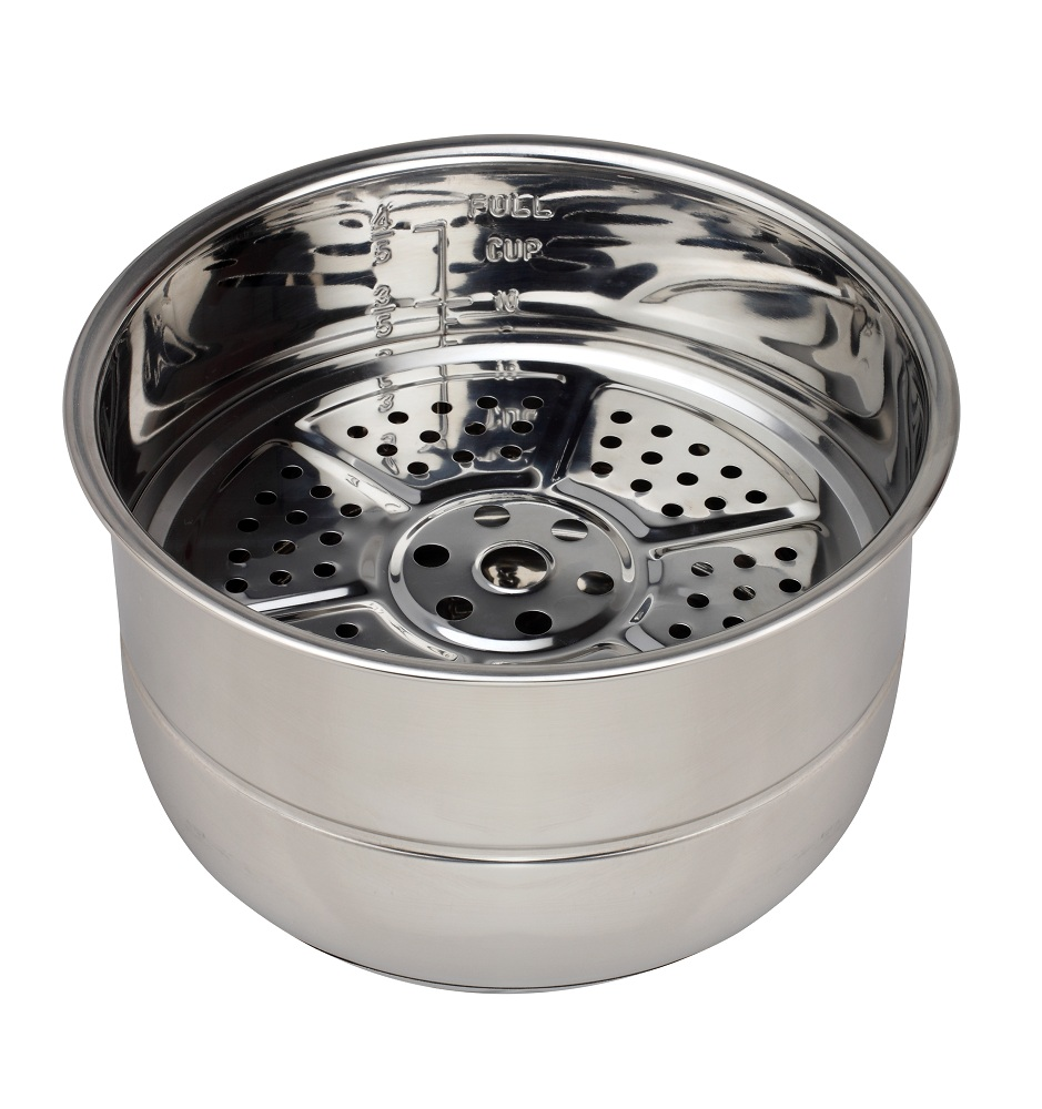 Stainless Steel With Steamer