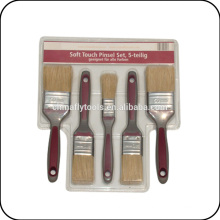 Rubber Handle Paint Brush Set