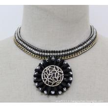 Woman Fashion Charm Crystal Chunky Choker Collar Pendant Necklace (JE0145)