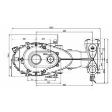 High Flow Triplex Plunger Pumps with Gearbox 171L