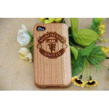 Nueva caja de madera del teléfono de la cubierta, caja simple del teléfono de bambú