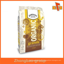 laminated material food grade plastic heat seal side gusseted pouches for tea, coffee