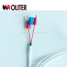 3 cores waterproof sus304 probe insulated silicone rubber cable platinum wires manufacturer pt100 resistance