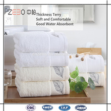 5 Star Hotel Used 16s Terry Face Towel with Embroidery Hotel Luxury Towels