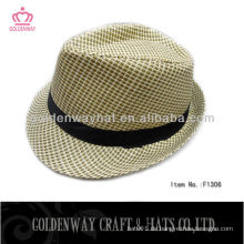 Casual Fedora Style Panama Look Strohhut Papier Qualität Hüte