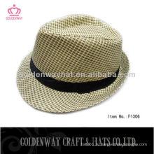 Casual Fedora Style Panama Посмотрите на соломенную шляпу из высококачественных шляп