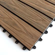 Plastic Wood Composite WPC Deck Tiles DIY Interlocking Balcony Tiles