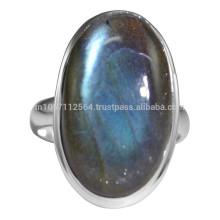 Натуральный кричащие Лабрадорит драгоценный камень и стерлингового серебра Пасьянс кольцо гор подарка