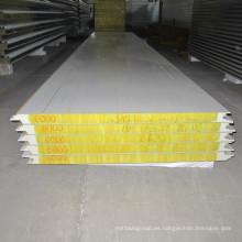Panel de sándwich de lana de roca incombustible de acero ligero