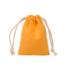 Reusable Plain Organic Cotton Canvas Fabric Muslin Calico Pouch Drawstring Bag With Custom Logo Printed
