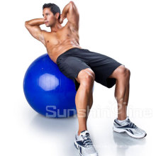 Fit Anti-Burst Yoga Exercise Ball with Pump and Ball Base