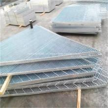 Barras de acero galvanizado de plata, piso de rejilla / plataforma