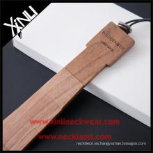 Hecho de Reclaimed Redwood Hecho a mano de moda Skinny Wood Tie