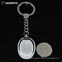 Sublimation cristal publicitaire porte-clés porte-clés sunmeta usine directement