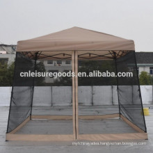 steel folding garden gazebo with mosquito netting
