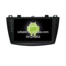 Vier Kern! Auto-dvd Android 6.0 für altes MAZDA 3 mit 9 Zoll kapazitivem Schirm / GPS / Spiegel-Verbindung / DVR / TPMS / OBD2 / WIFI / 4G