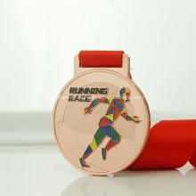 Cheap metal medallas deportivas con cinta