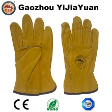 Leather Safety Cowhide Grain Leather Driving Work Gloves