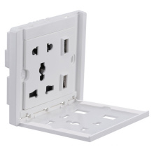 Wall Power Outlet Socket Supply with 2 Ports USB Charger Mobile Phone Charging Stand