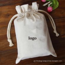 organic muslin cotton pouch Gift Drawstring Shoe Dust Bag white Canvas drawstring bags